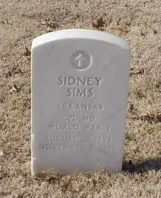 SIMS (VETERAN WWI), SIDNEY - Pulaski County, Arkansas | SIDNEY SIMS (VETERAN WWI) - Arkansas Gravestone Photos