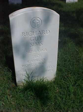SIMS (VETERAN WWII), RICHARD GUY - Pulaski County, Arkansas | RICHARD GUY SIMS (VETERAN WWII) - Arkansas Gravestone Photos