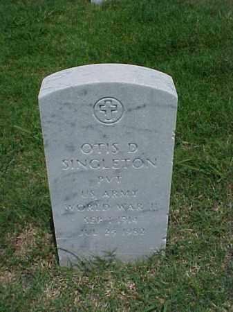 SINGLETON (VETERAN WWII), OTIS D - Pulaski County, Arkansas   OTIS D SINGLETON (VETERAN WWII) - Arkansas Gravestone Photos