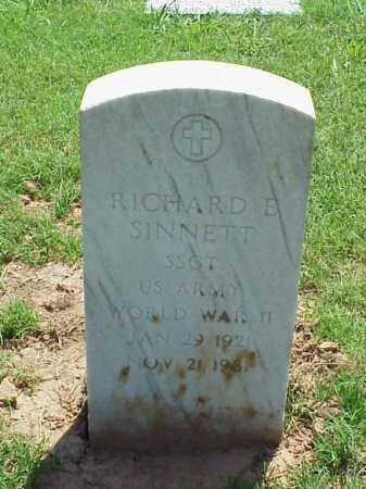 SINNETT (VETERAN WWII), RICHARD E - Pulaski County, Arkansas | RICHARD E SINNETT (VETERAN WWII) - Arkansas Gravestone Photos