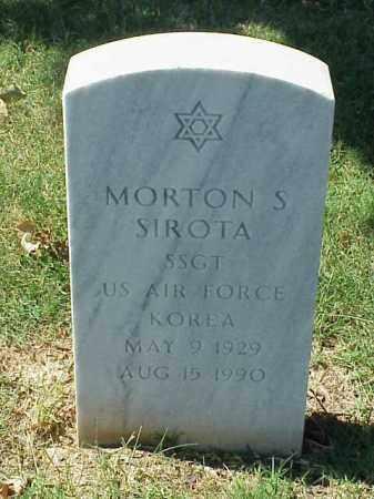 SIROTA VETERAN KOR), MORTON S - Pulaski County, Arkansas | MORTON S SIROTA VETERAN KOR) - Arkansas Gravestone Photos