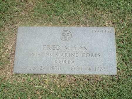 SISK (VETERAN KOR), FRED M - Pulaski County, Arkansas   FRED M SISK (VETERAN KOR) - Arkansas Gravestone Photos