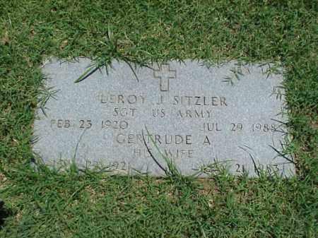 SITZLER, GERTRUDE A - Pulaski County, Arkansas | GERTRUDE A SITZLER - Arkansas Gravestone Photos