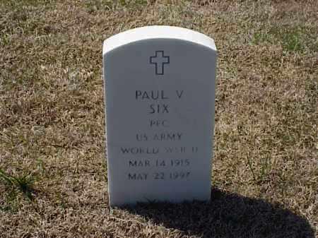 SIX (VETERAN WWII), PAUL VIRGIL - Pulaski County, Arkansas   PAUL VIRGIL SIX (VETERAN WWII) - Arkansas Gravestone Photos