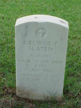 SLATEN (VETERAN WWI), GEORGE F - Pulaski County, Arkansas   GEORGE F SLATEN (VETERAN WWI) - Arkansas Gravestone Photos