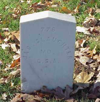 SLAUGHTER (VETERAN CSA), JAMES - Pulaski County, Arkansas   JAMES SLAUGHTER (VETERAN CSA) - Arkansas Gravestone Photos