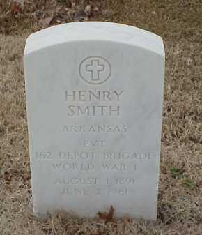 SMITH  (VETERAN WWI), HENRY - Pulaski County, Arkansas | HENRY SMITH  (VETERAN WWI) - Arkansas Gravestone Photos