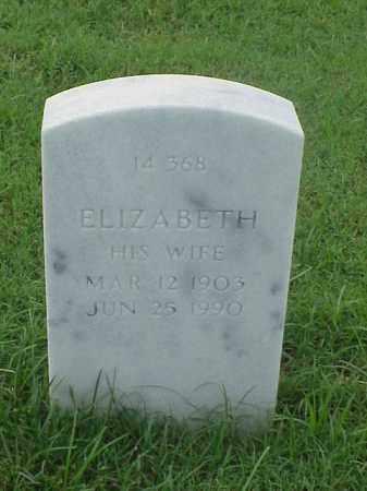 SMITH, ELIZABETH - Pulaski County, Arkansas | ELIZABETH SMITH - Arkansas Gravestone Photos