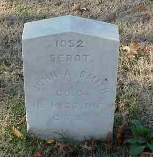 SMITH (VETERAN CSA), JOHN A - Pulaski County, Arkansas | JOHN A SMITH (VETERAN CSA) - Arkansas Gravestone Photos