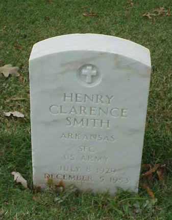 SMITH (VETERAN KOR), HENRY CLARENCE - Pulaski County, Arkansas   HENRY CLARENCE SMITH (VETERAN KOR) - Arkansas Gravestone Photos