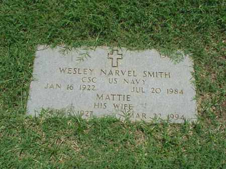 SMITH (VETERAN 2 WARS), WESLEY NARVEL - Pulaski County, Arkansas | WESLEY NARVEL SMITH (VETERAN 2 WARS) - Arkansas Gravestone Photos