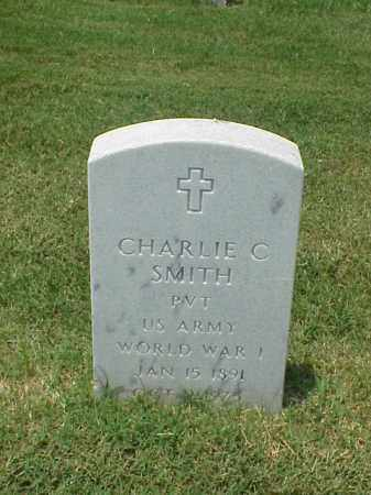 SMITH (VETERAN WWI), CHARLIE C - Pulaski County, Arkansas | CHARLIE C SMITH (VETERAN WWI) - Arkansas Gravestone Photos