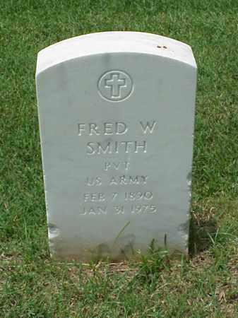 SMITH (VETERAN WWI), FRED W - Pulaski County, Arkansas   FRED W SMITH (VETERAN WWI) - Arkansas Gravestone Photos