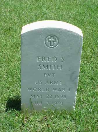 SMITH (VETERAN WWI), FRED S - Pulaski County, Arkansas | FRED S SMITH (VETERAN WWI) - Arkansas Gravestone Photos