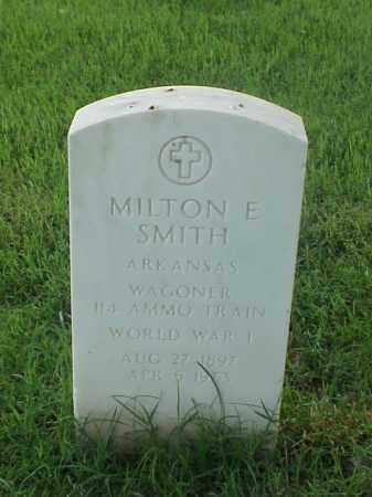 SMITH (VETERAN WWI), MILTON E - Pulaski County, Arkansas | MILTON E SMITH (VETERAN WWI) - Arkansas Gravestone Photos
