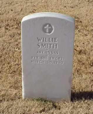 SMITH (VETERAN WWI), WILLIE - Pulaski County, Arkansas   WILLIE SMITH (VETERAN WWI) - Arkansas Gravestone Photos