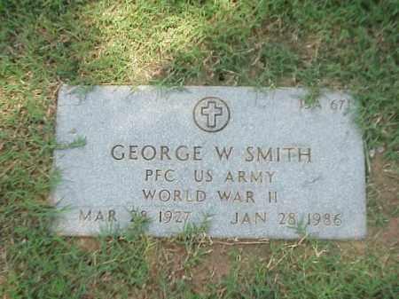 SMITH (VETERAN WWII), GEORGE W - Pulaski County, Arkansas   GEORGE W SMITH (VETERAN WWII) - Arkansas Gravestone Photos