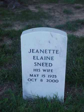 SNEED, JEANETTE ELAINE - Pulaski County, Arkansas | JEANETTE ELAINE SNEED - Arkansas Gravestone Photos