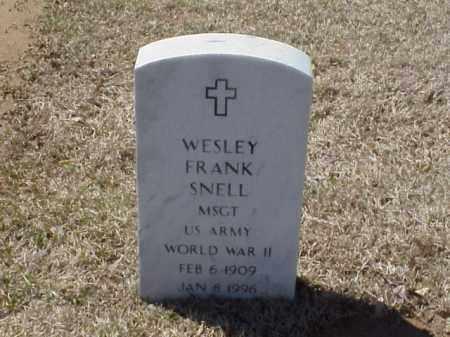SNELL (VETERAN WWII), WESLEY FRANK - Pulaski County, Arkansas | WESLEY FRANK SNELL (VETERAN WWII) - Arkansas Gravestone Photos