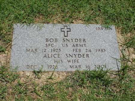 SNYDER (VETERAN 3 WARS), BOB - Pulaski County, Arkansas | BOB SNYDER (VETERAN 3 WARS) - Arkansas Gravestone Photos
