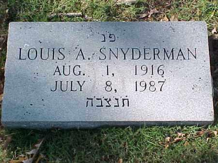 SNYDERMAN, LOUIS A - Pulaski County, Arkansas | LOUIS A SNYDERMAN - Arkansas Gravestone Photos