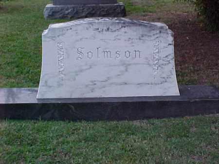 SOLMSON FAMILY STONE,  - Pulaski County, Arkansas |  SOLMSON FAMILY STONE - Arkansas Gravestone Photos