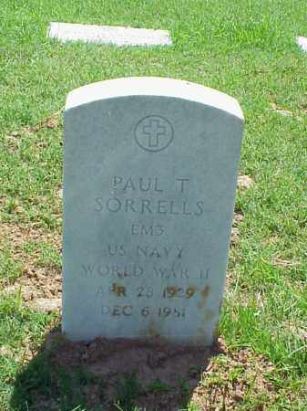 SORRELLS (VETERAN WWII), PAUL T - Pulaski County, Arkansas | PAUL T SORRELLS (VETERAN WWII) - Arkansas Gravestone Photos
