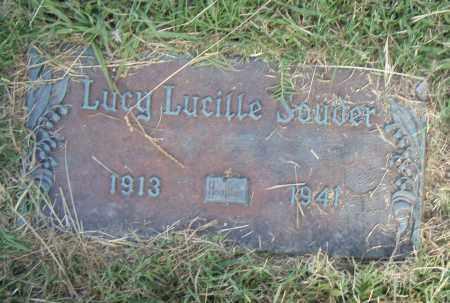 SOUDER, LUCY LUCILLE - Pulaski County, Arkansas | LUCY LUCILLE SOUDER - Arkansas Gravestone Photos