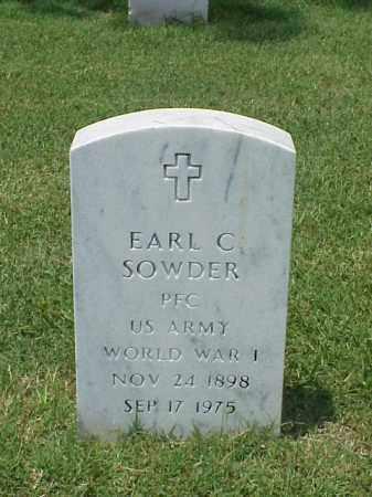 SOWDER (VETERAN WWI), EARL C - Pulaski County, Arkansas | EARL C SOWDER (VETERAN WWI) - Arkansas Gravestone Photos