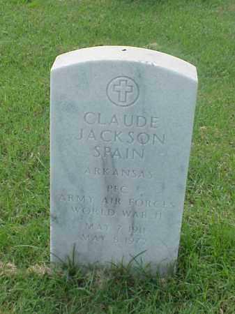 SPAIN (VETERAN WWII), CLAUDE JACKSON - Pulaski County, Arkansas | CLAUDE JACKSON SPAIN (VETERAN WWII) - Arkansas Gravestone Photos
