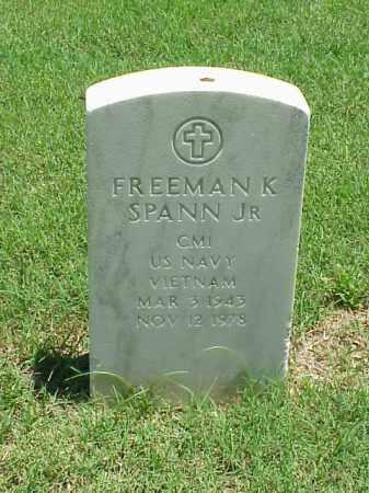 SPANN, JR (VETERAN VIET), FREEMAN K - Pulaski County, Arkansas   FREEMAN K SPANN, JR (VETERAN VIET) - Arkansas Gravestone Photos