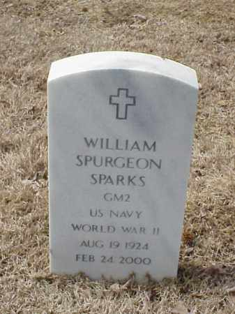 SPARKS   (VETERAN WWII), WILLIAM SPURGEON - Pulaski County, Arkansas   WILLIAM SPURGEON SPARKS   (VETERAN WWII) - Arkansas Gravestone Photos
