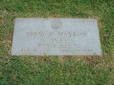 SPARROW (VETERAN WWII), PERRY W - Pulaski County, Arkansas | PERRY W SPARROW (VETERAN WWII) - Arkansas Gravestone Photos