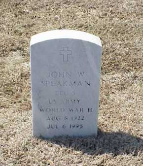 SPEAKMAN (VETERAN WWII), JOHN W - Pulaski County, Arkansas   JOHN W SPEAKMAN (VETERAN WWII) - Arkansas Gravestone Photos