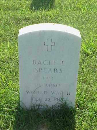 SPEARS (VETERAN WWII), BACLE E - Pulaski County, Arkansas | BACLE E SPEARS (VETERAN WWII) - Arkansas Gravestone Photos