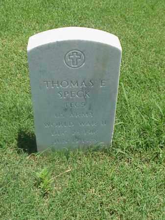 SPECK (VETERAN WWII), THOMAS E - Pulaski County, Arkansas | THOMAS E SPECK (VETERAN WWII) - Arkansas Gravestone Photos