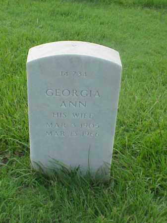 SPENCE, GEORGIA ANN - Pulaski County, Arkansas | GEORGIA ANN SPENCE - Arkansas Gravestone Photos