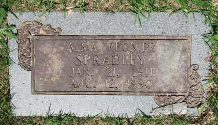 SPRADLEY, ALMA REGNIER - Pulaski County, Arkansas | ALMA REGNIER SPRADLEY - Arkansas Gravestone Photos