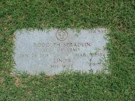 SPRADLIN (VETERAN 2 WARS), RODOLPH - Pulaski County, Arkansas | RODOLPH SPRADLIN (VETERAN 2 WARS) - Arkansas Gravestone Photos