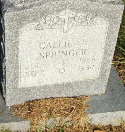 SPRINGER, CALLIE E. - Pulaski County, Arkansas | CALLIE E. SPRINGER - Arkansas Gravestone Photos
