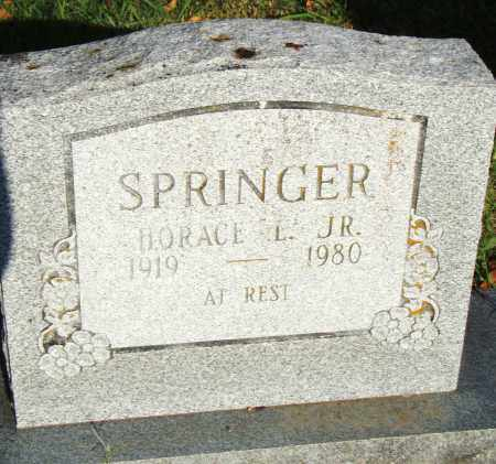 SPRINGER, JR., HORACE L. - Pulaski County, Arkansas | HORACE L. SPRINGER, JR. - Arkansas Gravestone Photos