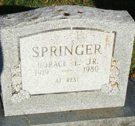 SPRINGER, JR., HORACE L. - Pulaski County, Arkansas | HORACE L. SPRINGER, JR. - Arkansas Gravestone Photos
