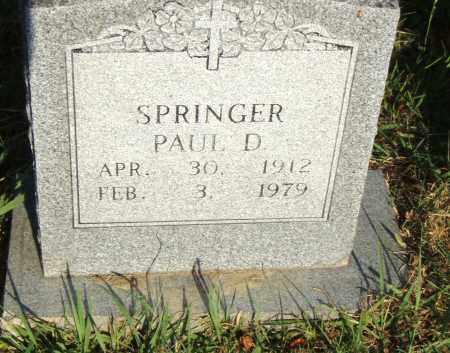 SPRINGER, PAUL D. - Pulaski County, Arkansas | PAUL D. SPRINGER - Arkansas Gravestone Photos
