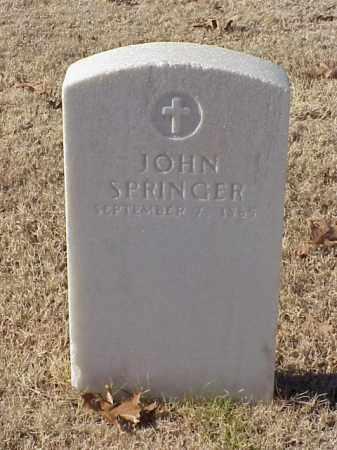 SPRINGER (VETERAN UNION), JOHN - Pulaski County, Arkansas   JOHN SPRINGER (VETERAN UNION) - Arkansas Gravestone Photos