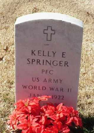 SPRINGER (VETERAN WWII), KELLY E - Pulaski County, Arkansas | KELLY E SPRINGER (VETERAN WWII) - Arkansas Gravestone Photos