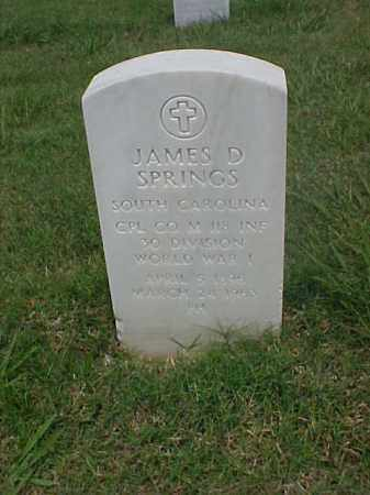 SPRINGS (VETERAN WWI), JAMES D - Pulaski County, Arkansas | JAMES D SPRINGS (VETERAN WWI) - Arkansas Gravestone Photos