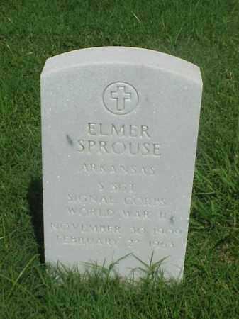 SPROUSE (VETERAN WWII), ELMER - Pulaski County, Arkansas   ELMER SPROUSE (VETERAN WWII) - Arkansas Gravestone Photos
