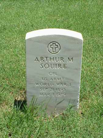 SQUIRE (VETERAN WWI), ARTHUR M - Pulaski County, Arkansas | ARTHUR M SQUIRE (VETERAN WWI) - Arkansas Gravestone Photos