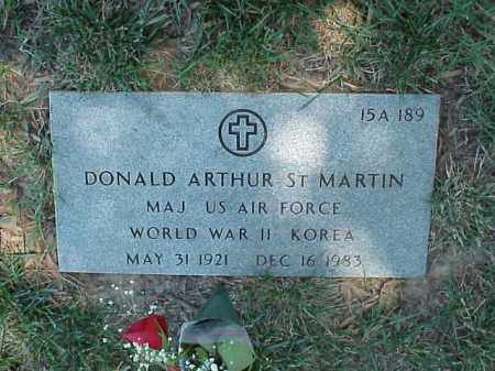 ST MARTIN (VETERAN 2 WARS), DONALD ARTHUR - Pulaski County, Arkansas | DONALD ARTHUR ST MARTIN (VETERAN 2 WARS) - Arkansas Gravestone Photos