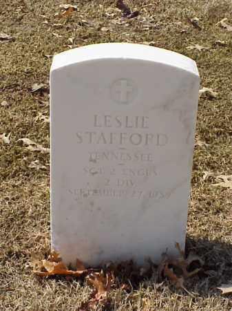STAFFORD (VETERAN WWI), LESLIE - Pulaski County, Arkansas   LESLIE STAFFORD (VETERAN WWI) - Arkansas Gravestone Photos